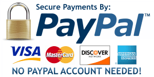 Secure payments by PayPal. No PayPal account needed.