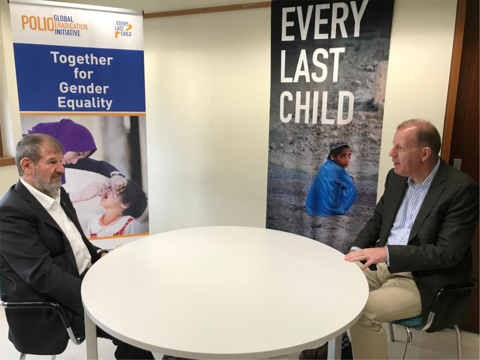WHO's new Director of Polio Eradication, Aidan O'Leary takes over from Zaffran